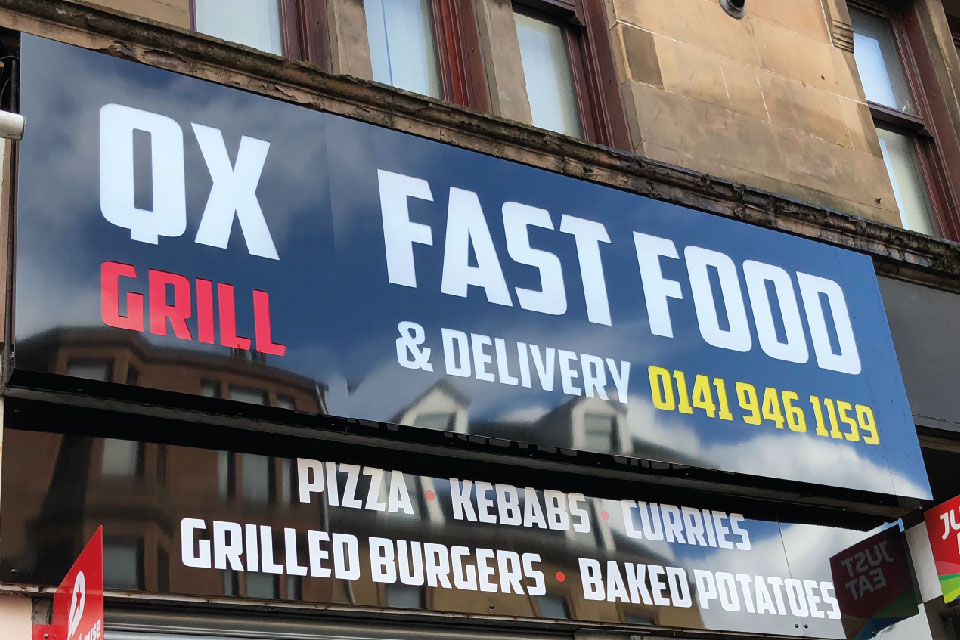 signs-edinburgh-light-box-signs-edinburgh-qx-food-sign